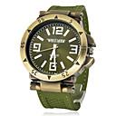 levne Vojenské hodinky-Pánské Vojenské hodinky japonština Křemenný Silikon Černá / Zelená 30 m Hodinky na běžné nošení Analogové Přívěšky Aristo - Černá Stříbrná Zelená Jeden rok Životnost baterie