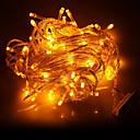 preiswerte LED Lichterketten-10m 100-led gelbes Licht führte Dekoration String Licht (220V)