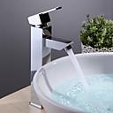 preiswerte Badarmaturen-Moderne Becken Keramisches Ventil Ein Loch Einhand Ein Loch Chrom, Waschbecken Wasserhahn