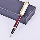 cheap Office Basics-Personalized Gift Premium Business Style Brown Metal Engraved Ink Pen