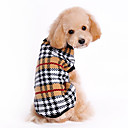 cheap Dog Clothes-Cat Dog Sweater Dog Clothes Classic Keep Warm Plaid/Check Brown Costume For Pets