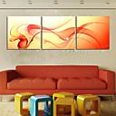 olcso Képek-Kifeszített vászonnyomat Vászon szett Absztrakt Három elem Vízszintes Nyomtatás fali dekoráció lakberendezési