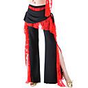 hesapli Düğün Dekorasyonları-Göbek Dansı Alt Giyimler Kadın's Eğitim Polyester Dantel Fırfırlı Doğal Pantalonlar