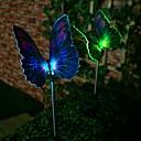 olcso Művirág-1db Lawn Lights 1 LED gyöngyök Nagyteljesítményű LED Dekoratív Több színű
