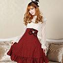 baratos Vestidos Lolita-Doce Elegante Mulheres Saia Cosplay Comprimento Médio Fantasias