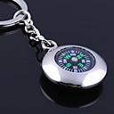 preiswerte Individuelle Bekleidung Zubehör-Individuelle Gravur Geschenk Runde Kompass geformt Schlüsselbund
