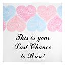 preiswerte Hochzeitsgeschenke-Bunte Herzen Muster Öffnungsanzeige