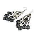 cheap Earrings-Women's Chandelier Drop Earrings - Drop Bohemian, Boho Black For Party / Daily