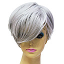 cheap Synthetic Capless Wigs-Synthetic Wig Straight Synthetic Hair Wig Women's Capless Grey
