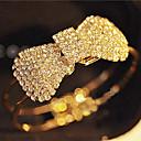 baratos Spinners de mão-Mulheres Cristal Bracelete - Cristal, Strass Com Laço Estilo simples, Aberto Pulseiras Para Presentes de Natal Festa Diário
