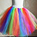 ieftine USB-Ținute de Dans Copii Fuste de balet Antrenament Tulle Flori Fără manșon Natural