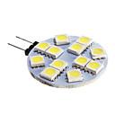 baratos Luzes LED de Dois Pinos-420lm G4 Lâmpadas de Foco de LED 12 Contas LED SMD 5050 Branco Frio 12V