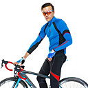 preiswerte Radhelme-SANTIC Herrn Langarm Fahrradtrikot - Blau Fahhrad Trikot / Radtrikot / Jacke, Rasche Trocknung, UV-resistant, Atmungsaktiv Polyester,