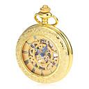 ieftine Ceas de buzunar-Bărbați ceas mecanic / Ceas de buzunar Japoneză Gravură scobită Aliaj Bandă Lux / Vintage Auriu