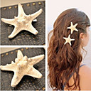 cheap Hair Jewelry-Women's Elegant Cowry Hair Clip Flower / Barrettes / Barrettes