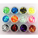 cheap Other Nail Tools-12 color hexagonal glitter tablets nail art decorations