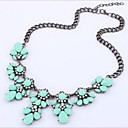 cheap Necklaces-Women's Crystal Statement Necklace Rhinestone Fashion Light Blue Rainbow Light Green Necklace Jewelry 1pc For Wedding Party Daily Casual