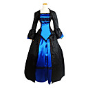 cheap Historical & Vintage Costumes-Victorian Medieval Costume Women's Dress Party Costume Masquerade Vintage Cosplay Lace Polyester Long Sleeve Lolita Halloween Costumes
