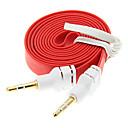 preiswerte Audio & Video-1M 3.3ft Noodle Wohnung Hilfs Aux-Audiokabel 3,5 mm Klinke Stecker auf Stecker Cord