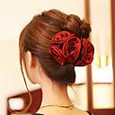 رخيصةأون مجوهرات الشعر-أسود زهري أحمر داكن مخالب الشعر نسائي-وردة / أكريليك / قماش