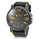 ieftine Faruri de Mașină-V6 Bărbați Quartz Quartz Japonez Ceas de Mână cald Vânzare Silicon Bandă Charm Negru