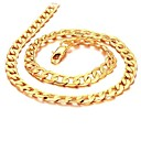 cheap Necklaces-Men's Chain Necklace - 18K Gold Plated, Gold Plated Gold Necklace Jewelry For Wedding, Party, Daily