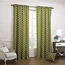 abordables Cortinas-Dos Paneles Ventana Tratamiento Modern, Jacquard Dormitorio Algodón Material cortinas cortinas Decoración hogareña