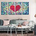 ieftine Rame-Imprimeu pânză întins Set Canava Abstract Fantezie Patru Panouri Orizontal Imprimeu Decor de perete Pagina de decorare