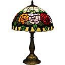 Χαμηλού Κόστους Επιτραπέζια Φωτιστικά-Tiffany αυξήθηκαν υπνοδωμάτιο D12067T λάμπα κομοδίνου