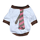 cheap Bakeware-Dog Shirt / T-Shirt Dog Clothes Stripe White Cotton Costume For Pets Men's Women's Casual/Daily