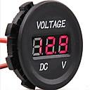 abordables Interruptores para Coche-dc 12v-24v digital de coche voltios eléctrica probador Indicador del monitor medidor de voltaje conducido