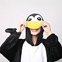 abordables Pijamas Kigurumi-Adulto Pijamas Kigurumi con pantuflas Pingüino Pijamas de una pieza Vellón de Coral Negro / Blanco Cosplay por Hombre y mujer Ropa de Noche de los Animales Dibujos animados Festival / Celebración