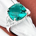 cheap Earrings-Women's Statement Ring - Silver Plated 7 / 8 / 9 For Wedding / Party / Daily / Crystal