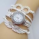 cheap Bracelets-Women's Bracelet Watch / Simulated Diamond Watch Wing / Imitation Diamond Leather Band Sparkle / Bohemian / Fashion White / Blue / Red / One Year / Jinli 377