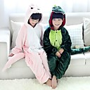 cheap Kigurumi Pajamas-Kid's Kigurumi Pajamas Dinosaur Animal Onesie Pajamas Flannel Toison Green / Pink Cosplay For Boys and Girls Animal Sleepwear Cartoon Festival / Holiday Costumes
