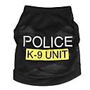 preiswerte Hundekleidung-Katze Hund T-shirt Hundekleidung Polizei / Militär Schwarz Blau Rosa Terylen Kostüm Für Haustiere Herrn Damen Niedlich Modisch