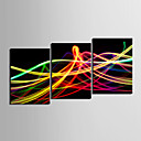 cheap Stretched Canvas Prints-Canvas Set Abstract Classic Traditional,Three Panels Horizontal Print Wall Decor For Home Decoration
