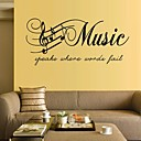 cheap Wall Stickers-Music Words & Quotes Wall Stickers Plane Wall Stickers Decorative Wall Stickers, Vinyl Home Decoration Wall Decal Wall