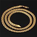 preiswerte Modische Halsketten-Figaro Kette Klobig Halsketten / Ketten / Stränge Halskette - vergoldet Golden Modische Halsketten Schmuck Für Hochzeit, Party, Alltag