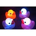 abordables Jouets Aimantés-4 pièces bain bébé canard flotteur jouet a mené jouets de changement de couleur de lumière (couleur aléatoire)