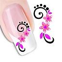 billige Dekaler-1 pcs 3D Negle Stickers Vandoverførings klistermærke Negle kunst Manicure Pedicure Blomst / Mode Daglig / 3D Nail Stickers