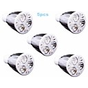 cheap LED Spot Lights-5pcs 6 W 500lm GU10 LED Spotlight 3 LED Beads High Power LED Warm White / Cold White / Natural White 110-240 V / 5 pcs / RoHS