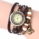 baratos Relógios da Moda-Mulheres Bracele Relógio PU Banda Boêmio / Fashion Preta / Branco / Azul / Um ano / Jinli 377