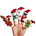 お買い得  クリスマス向けおもちゃ-クリスマス サンタスーツ Elk 雪だるま 指人形 動物 会話 カトゥーン 繊維 プラッシュ 女の子 ギフト 5pcs