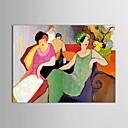 preiswerte Abstrakte Gemälde-Hang-Ölgemälde Handgemalte - Menschen Zeitgenössisch Segeltuch