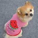 halpa Koiran vaatteet-Kissa Koira T-paita Koiran vaatteet Hedelmä Kirjain ja numero Sininen Pinkki Puuvilla Asu Käyttötarkoitus Kesä Cosplay