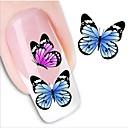 povoljno Vodene naljepnice za nokte-1 pcs 3D Nail Naljepnice Naljepnica za prijenos vode nail art Manikura Pedikura Lijep Sažetak / Moda Dnevno / 3D naljepnice za nokte