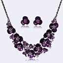 cheap Party Headpieces-Women's Rhinestone Jewelry Set Earrings / Necklace - Party / European Black / Purple / Rainbow Jewelry Set For