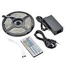 رخيصةأون أضواء شريط LED-ZDM® 5m أضواء RGB بشكل شريط 150 المصابيح 5050 SMD 1 44Keys جهاز تحكم عن بعد / 1 × 12V 3A محول RGB ضد الماء / ديكور 12 V 1SET / IP65