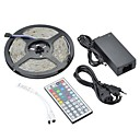 cheap LED Strip Lights-ZDM 1 Set Waterproof IP65 5m 150 x 5050 RGB SMD LEDs Strips Light with 12V/3A  Adapter  IR 44 Keys MINI Remote Controller  Light Sets